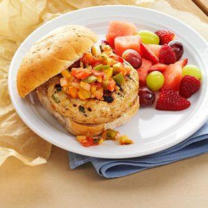Turkey Burgers with Mango Salsa