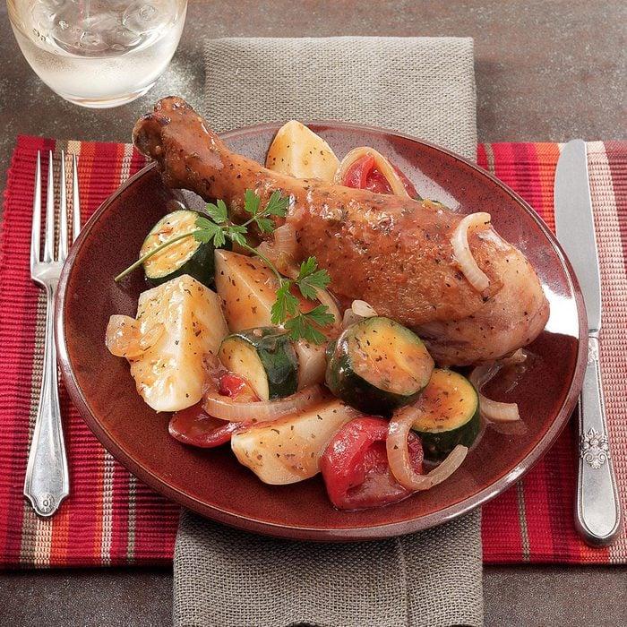 Turkey Drumstick Dinner