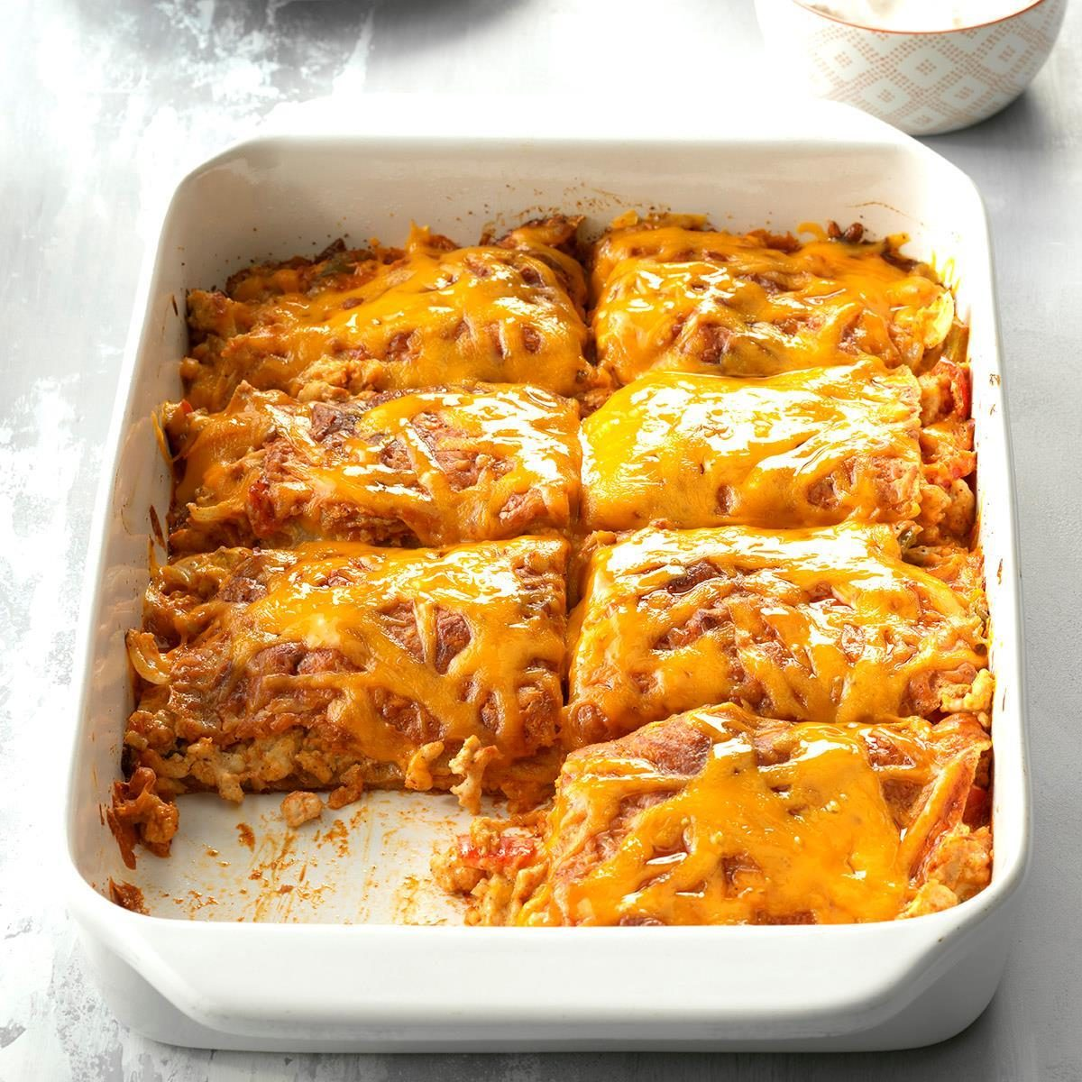 Turkey Enchilada Lasagna Recipe Taste Of Home