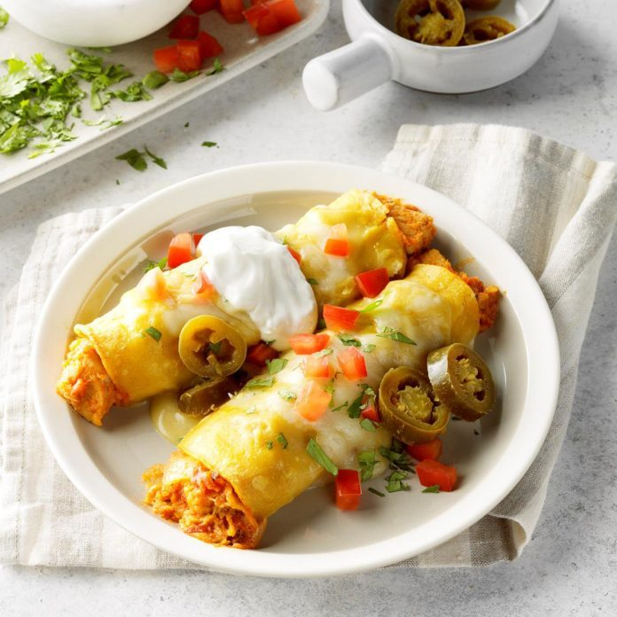 Turkey Enchiladas Verdes