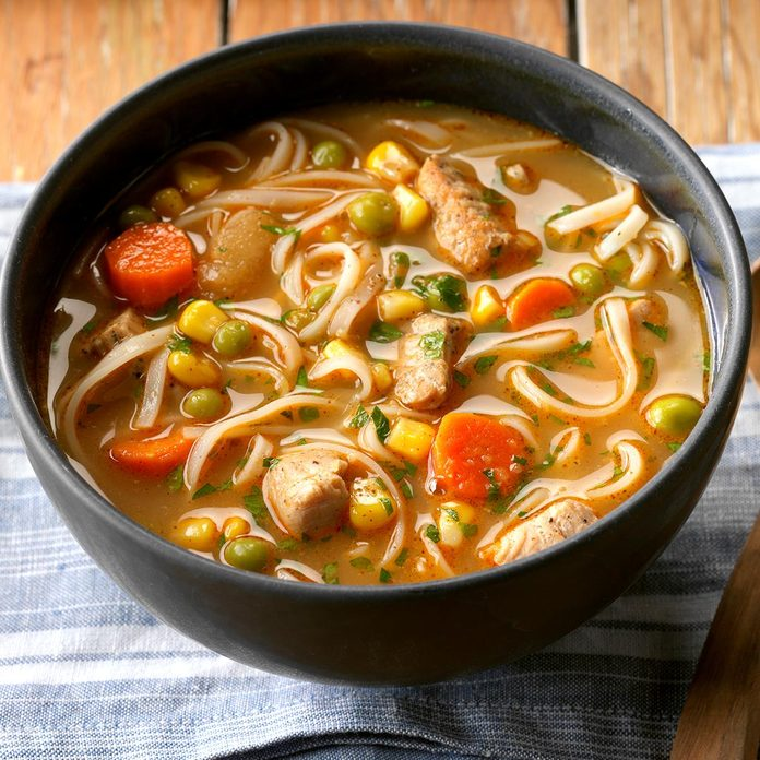 Day 19: Turkey Ginger Noodle Soup