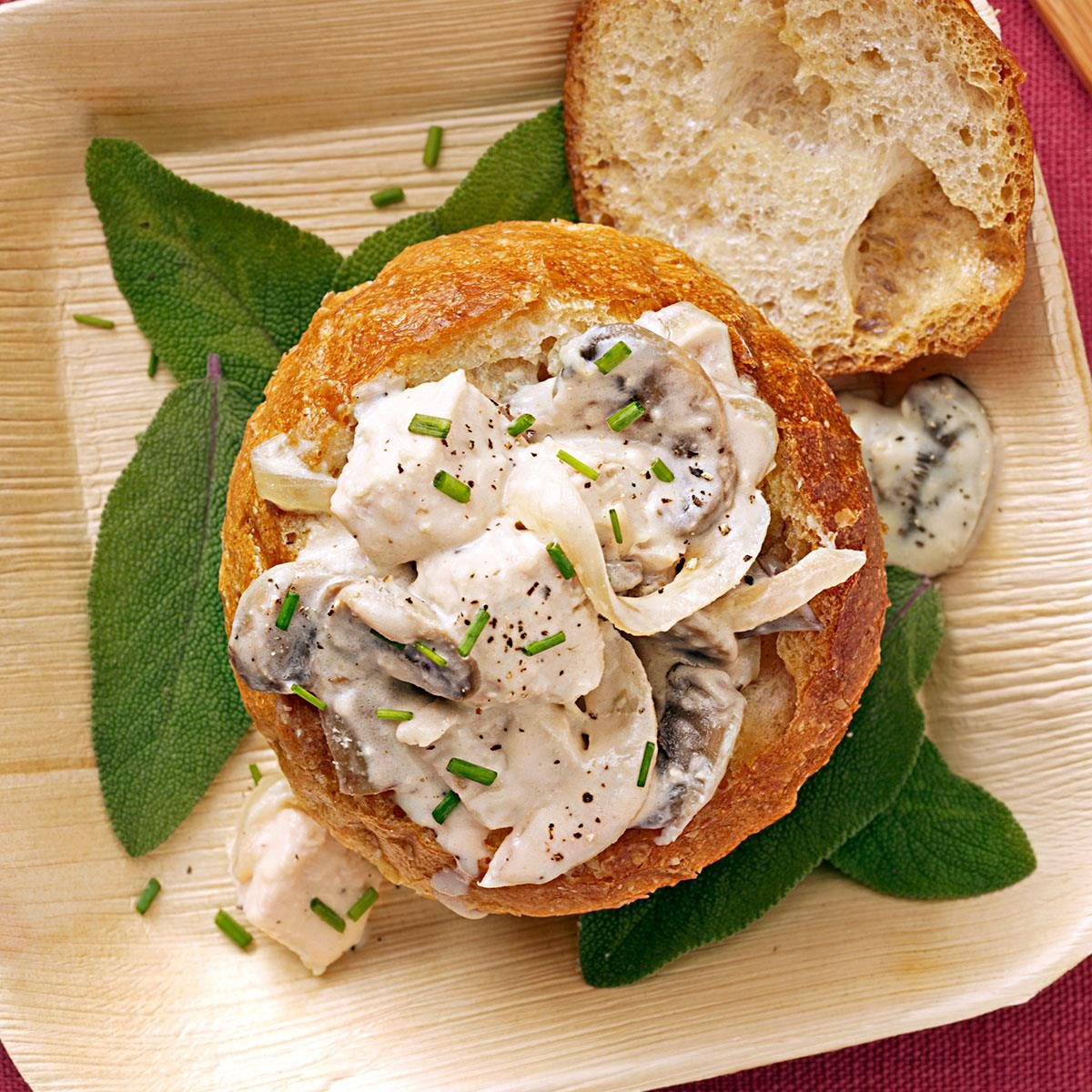 Turkey Mushroom Sandwich Bowls