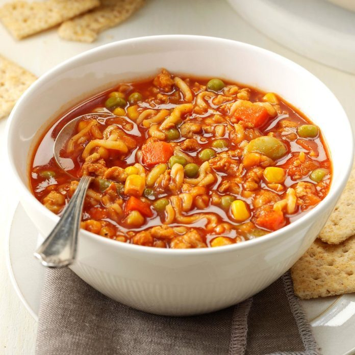 Turkey & Noodle Tomato Soup