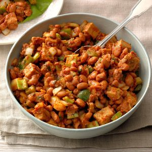 Turkey Pinto Bean Salad with Southern Molasses Dressing
