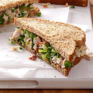 Turkey Salad on Wheat Bread