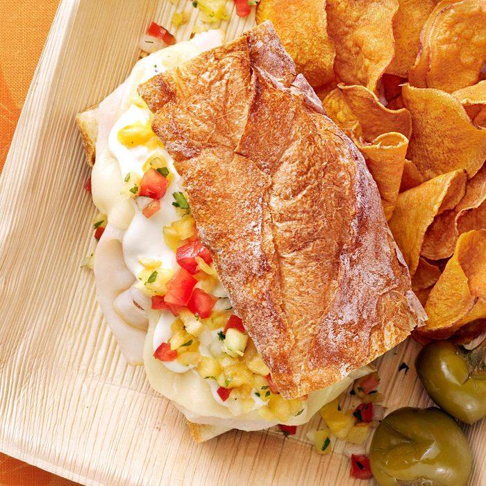 Turkey Sandwich with Pineapple Salsa