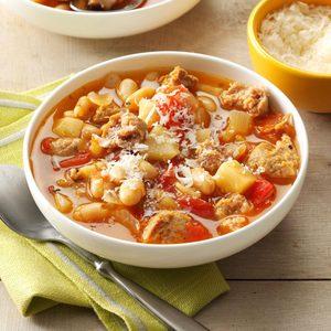 Turkey Sausage Bean Soup