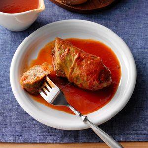 Turkey Sausage Cabbage Rolls