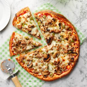 Turkey Sausage Pizza