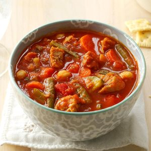 Turkey Sausage Soup with Fresh Vegetables