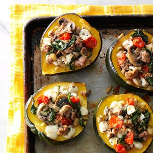 Turkey Sausage-Stuffed Acorn Squash