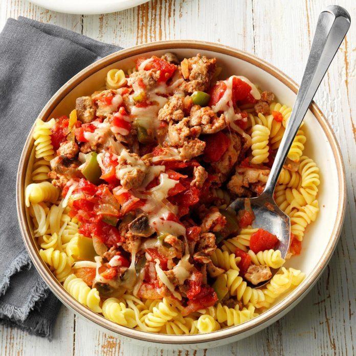 Turkey Sausage with Pasta