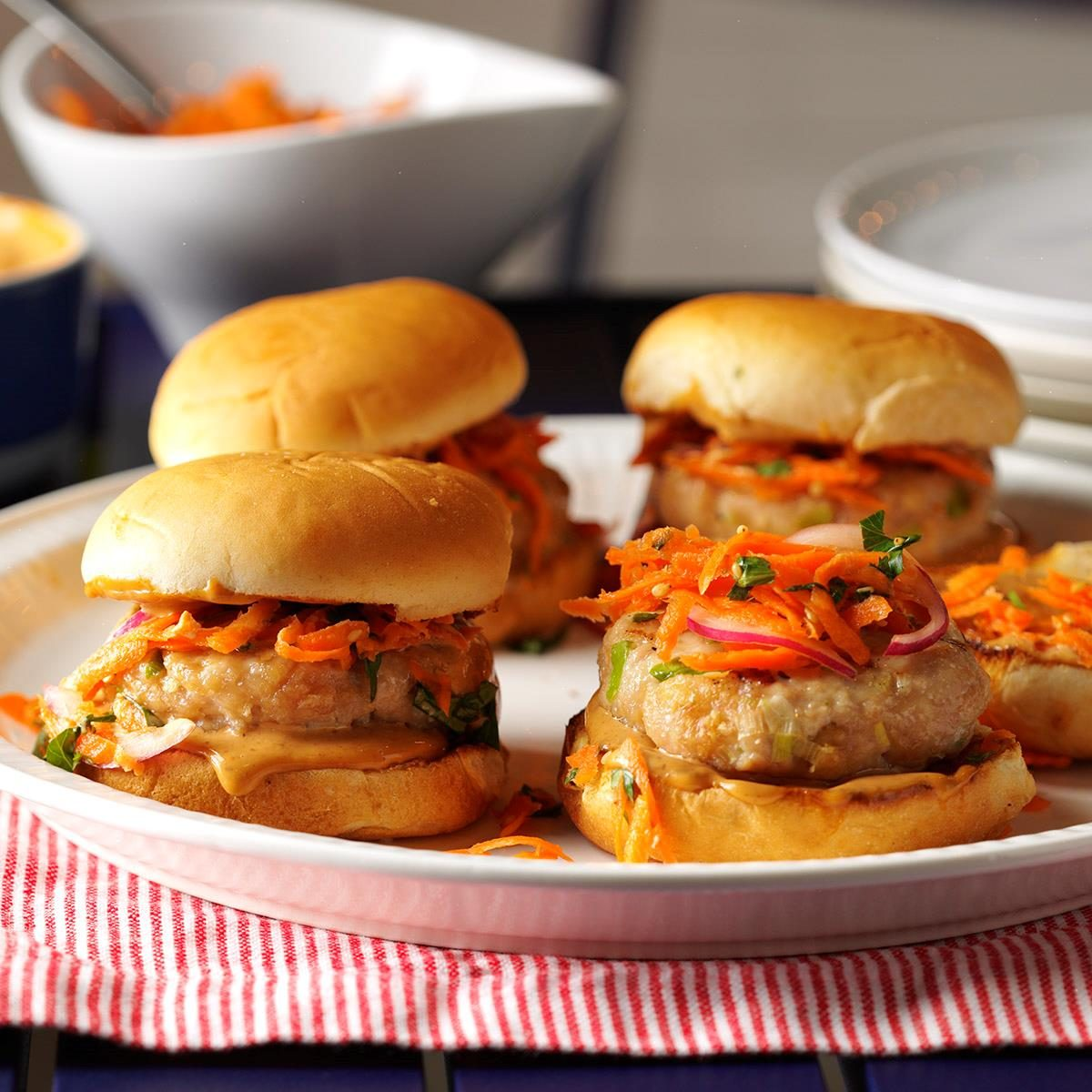 Turkey Sliders with Sesame Slaw