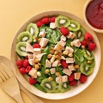 Turkey Spinach Salad with Cranberry-Raspberry Dressing