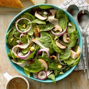 Turkey Spinach Salad with Maple Dressing