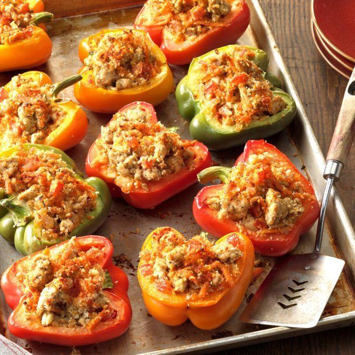 August 20: Turkey-Stuffed Bell Peppers