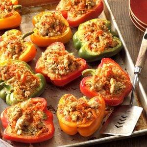 Turkey-Stuffed Bell Peppers