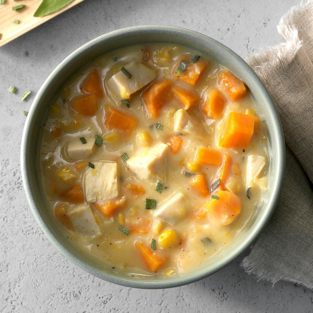 Turkey-Sweet Potato Soup