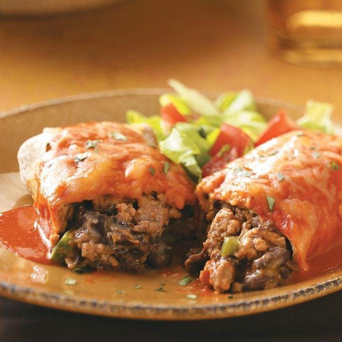 Turkey and Black Bean Enchiladas