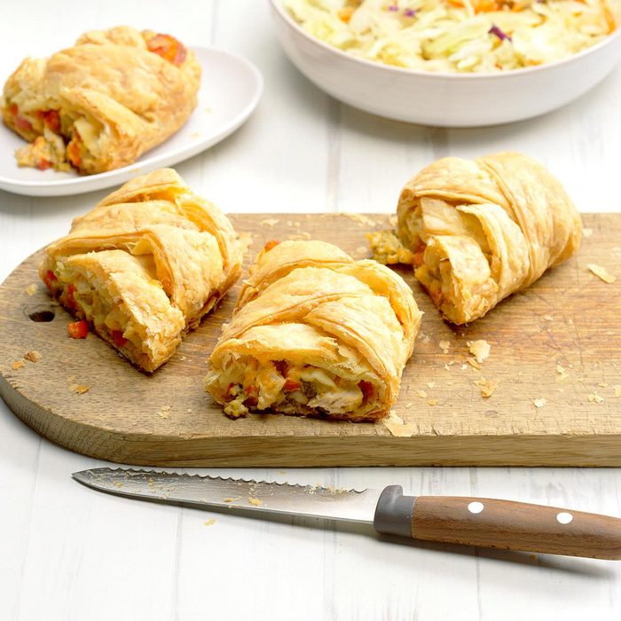 March 31: Turkey and Broccoli Pastry Braid