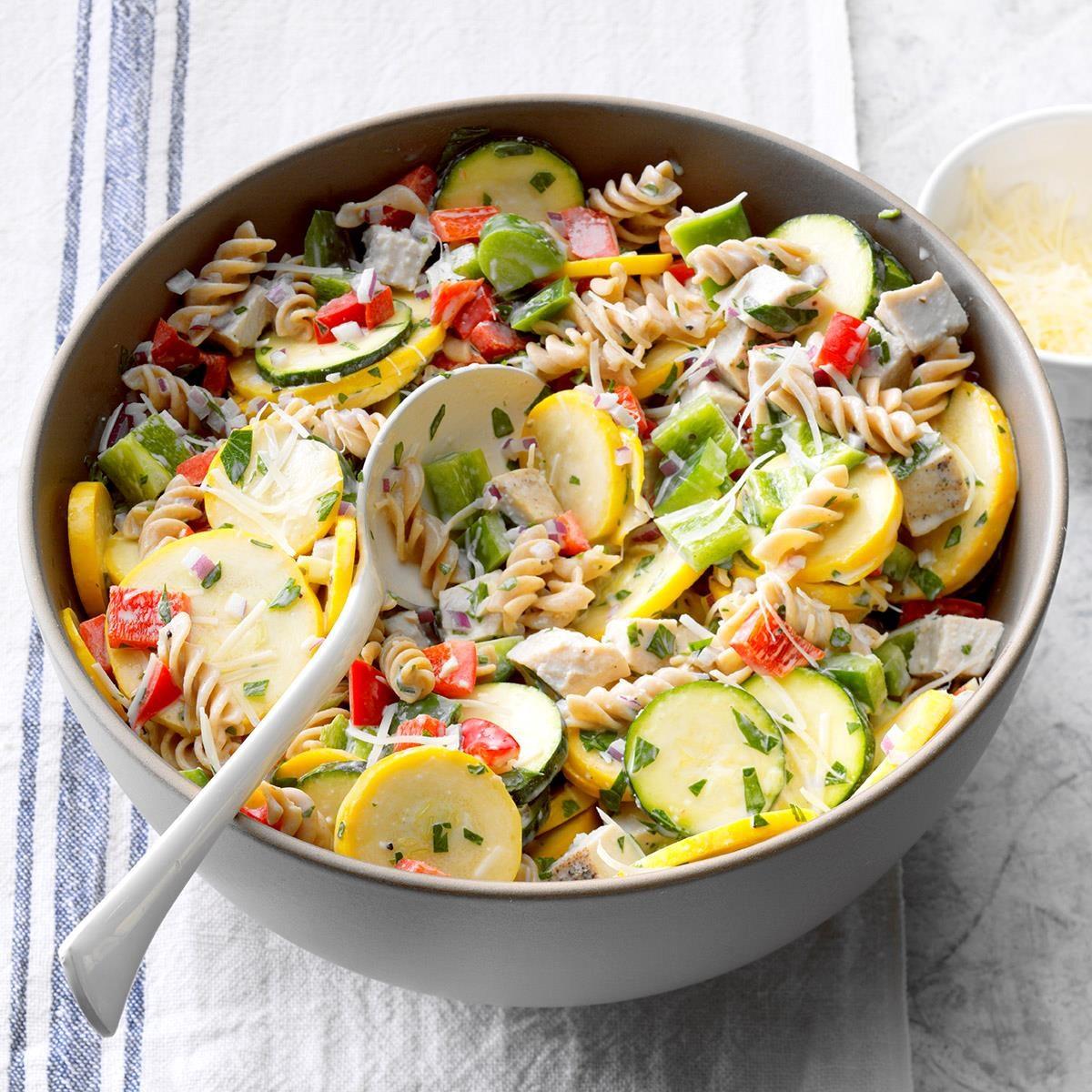 Turkey and Pasta Ranch Salad