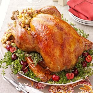 Turkey with Cherry Stuffing