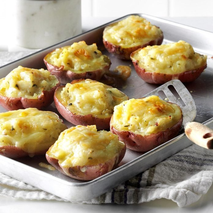 Kid-Friendly Easter Spread: Twice-Baked Red Potatoes
