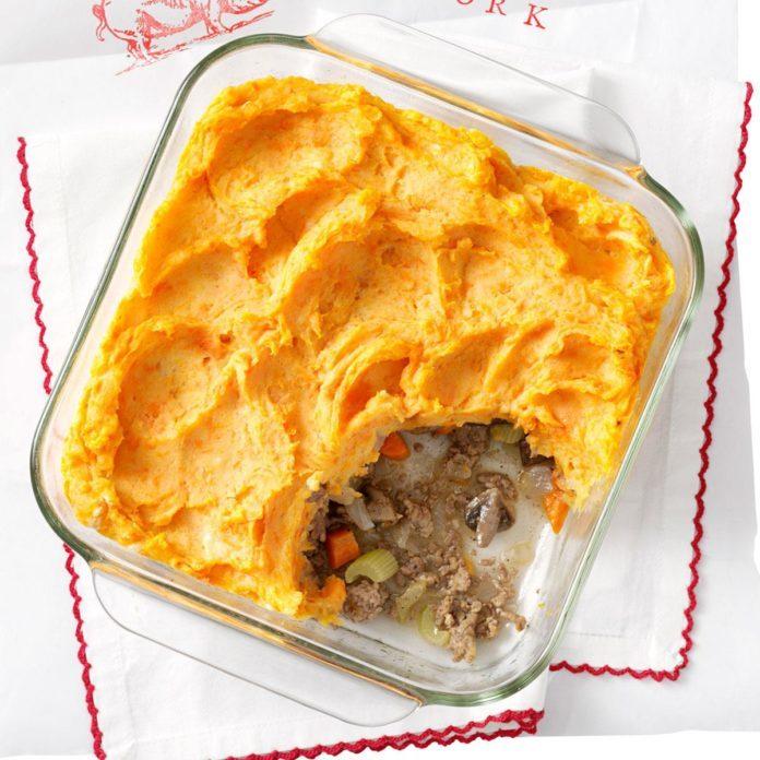 Two-Potato Shepherd's Pie