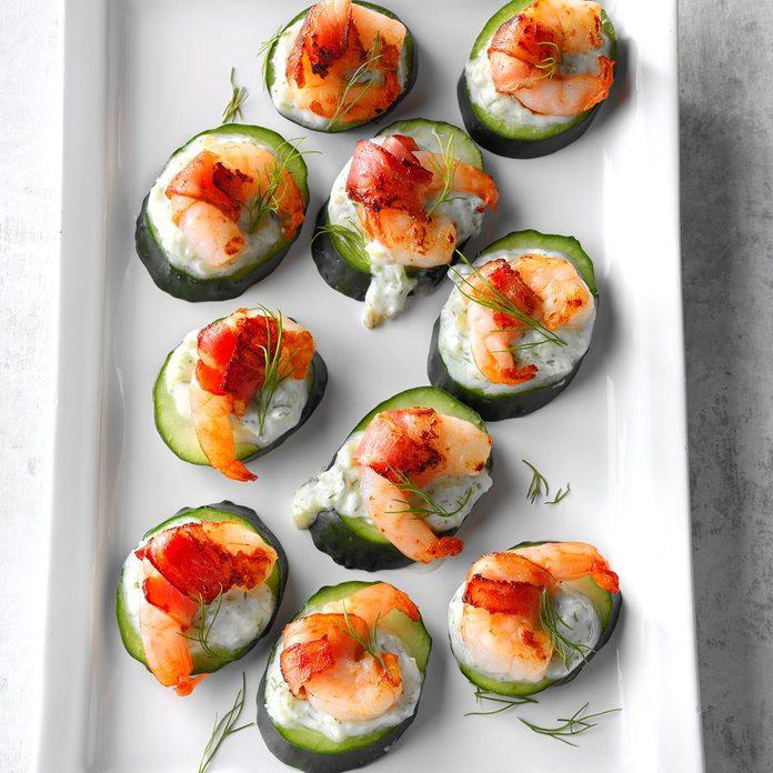 Tzatziki Shrimp Cucumber Rounds