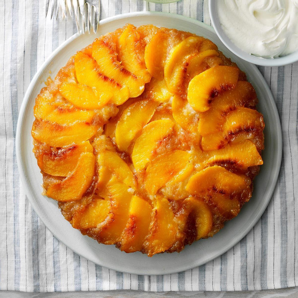 Upside Down Peach Cake Recipe Taste Of Home