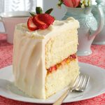 Vanilla Bean Cake with White Chocolate Ganache