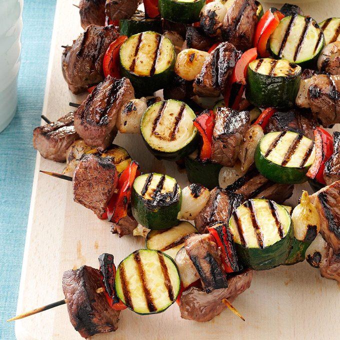 Vegetable Beef Kabobs