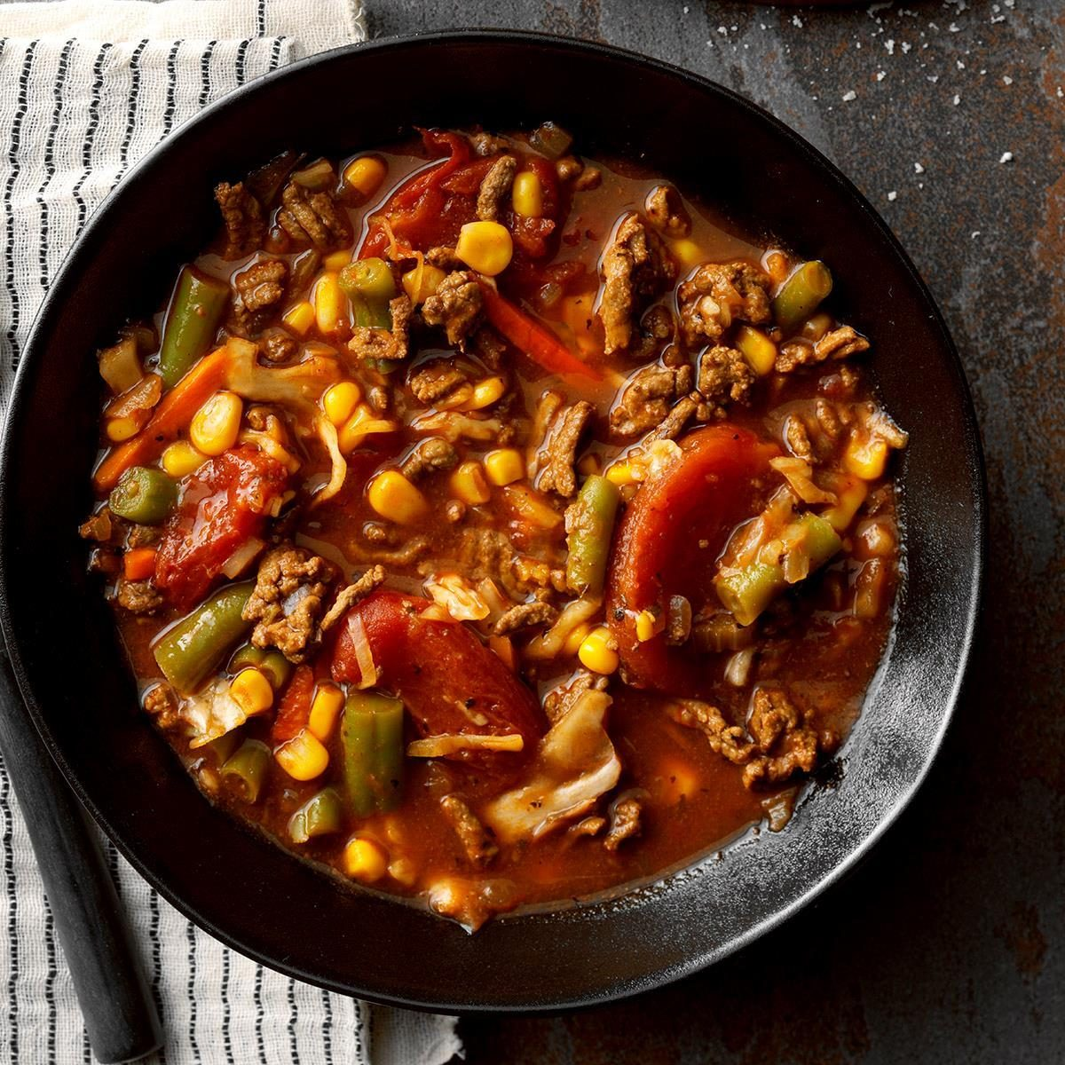 Vegetable Soup With Hamburger Recipe