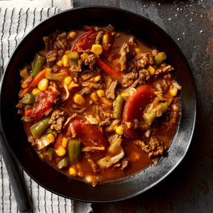 Vegetable Soup with Hamburger
