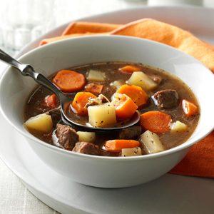 Vegetable Steak Soup