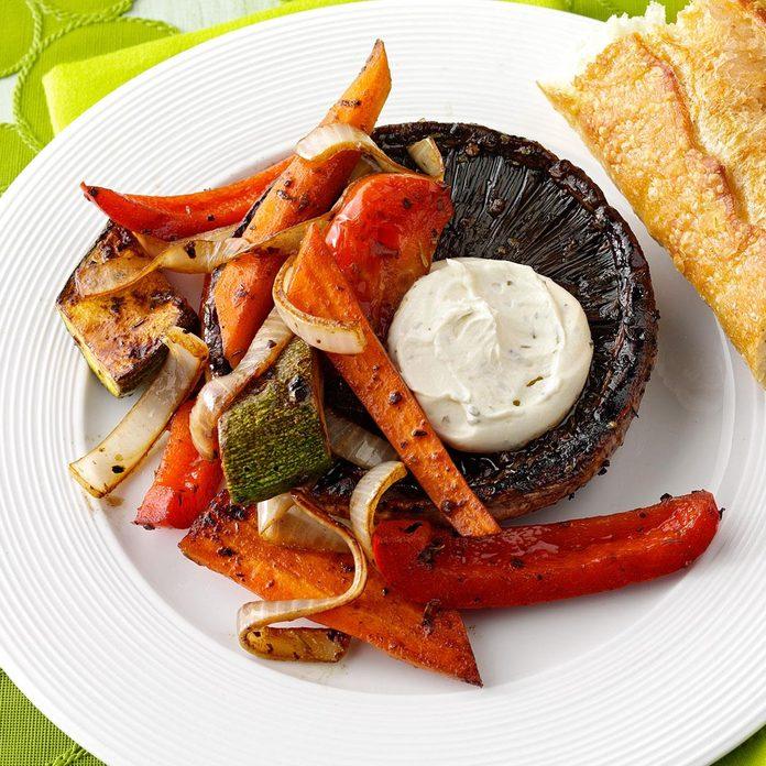 Vegetable-Stuffed Grilled Portobellos