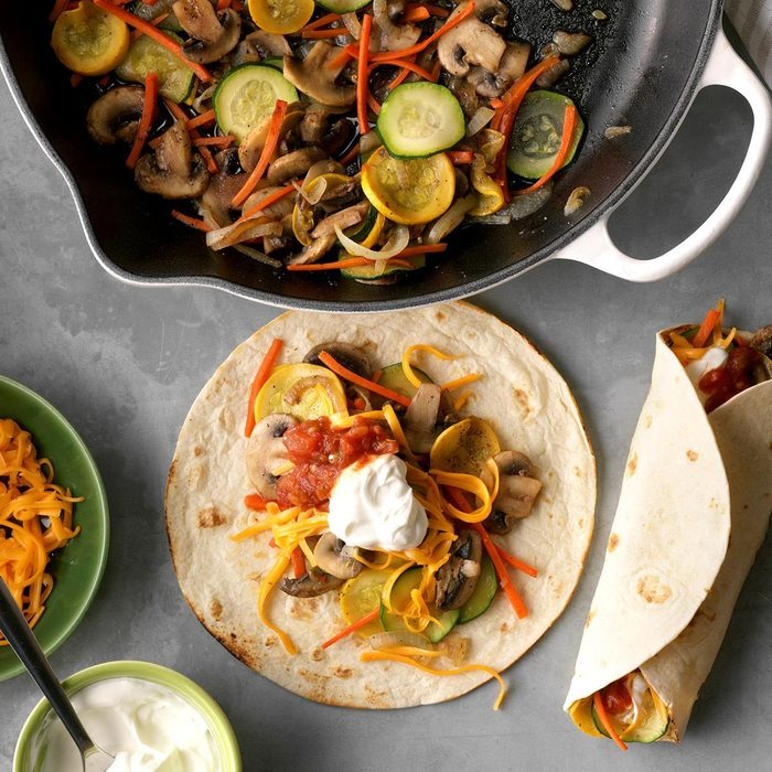 Summer vegetarian recipes - Veggie Fajitas