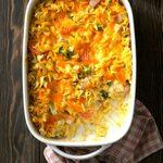 Veggie Noodle Ham Casserole