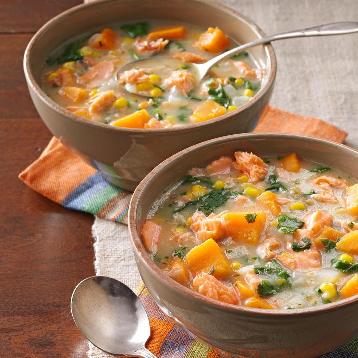 Day 7 Lunch: Veggie Salmon Chowder