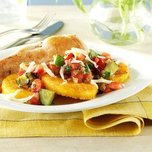 Veggie-Topped Polenta Slices