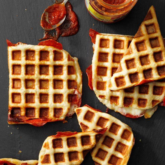 February: Waffle Iron Pizzas