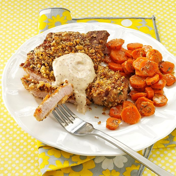 Walnut Breaded Chops With Honey Mustard Sauce Exps161539 Sd2401789c08 09 4bc Rms 2