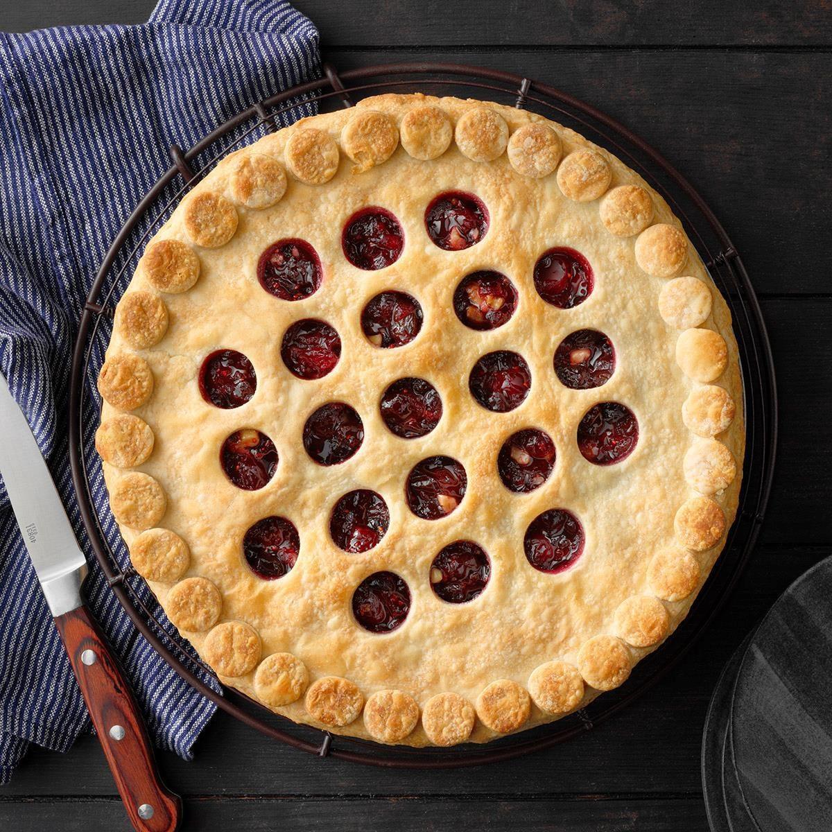 Walnut-Cranberry Pie