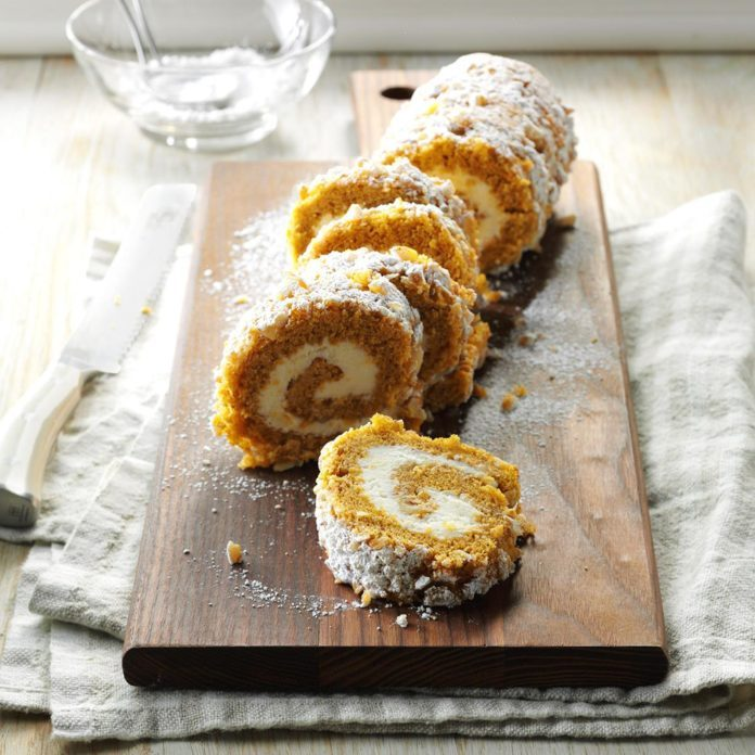Aries: Walnut Pumpkin Cake Roll