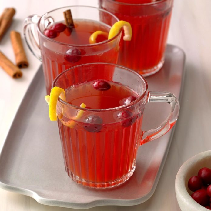 Warm Cider Cranberry Punch
