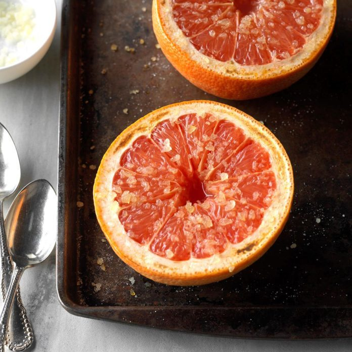 Warm Grapefruit with Ginger-Sugar