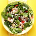 Warm Szechuan Shrimp and Spinach Salad