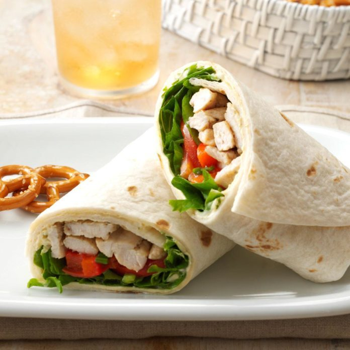 Warm Turkey & Tomato Wraps