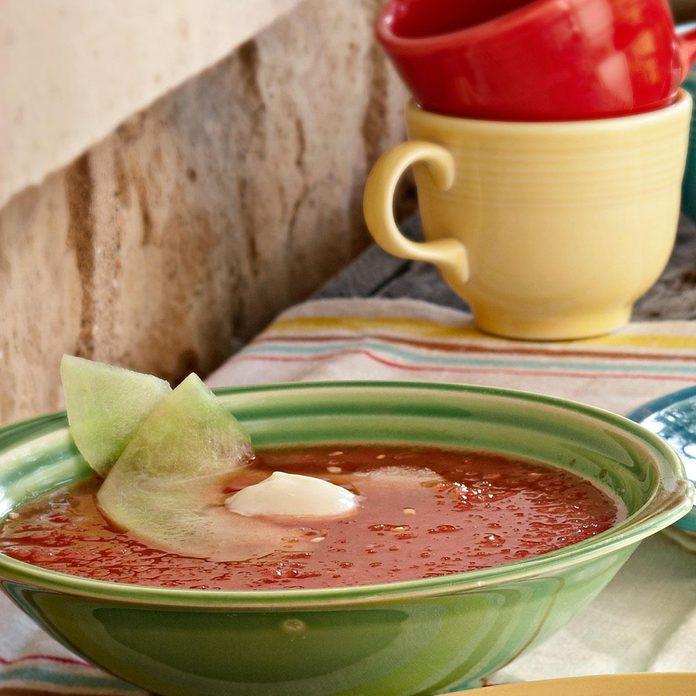 Watermelon Mint Gazpacho