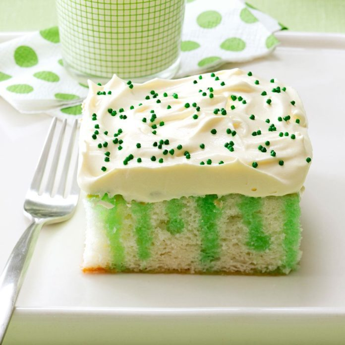 March Birthday: Wearing O' Green Cake